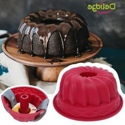 Ring Silicone Bakeware Mould Chiffon Cake Pan Bread Pastry T