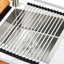 JOMOLA Roll-Up Dish Drying Rack,SUS304 Stainless Steel Squar
