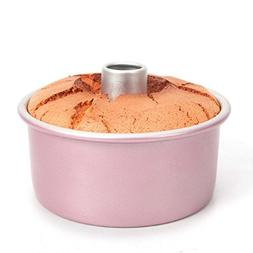 """Ancdream 6"""" Rose Gold Anodized Aluminum Round Angel Food Cak"""