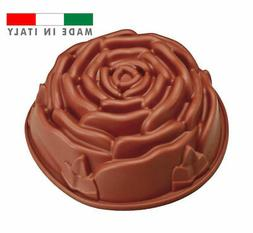 Rose Silicone Baking Cake Pan Mold DIY 3D, Commercial Qualit