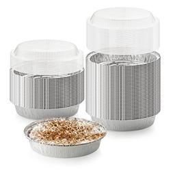 40-Pack of 7-Inch Round Foil Pans with 40 Dome Lids - Dispos