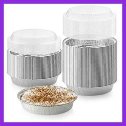40-Pack of 9-Inch Round Foil Pans with 40 Dome Lids - Dispos