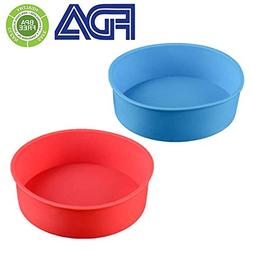 Round Silicone Cake Pan Baking Mold 6 Inches - Set of 2 - BP
