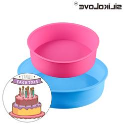 SILIKOLOVE Round Silicone Mold 2pcs/Set Home <font><b>Kitche