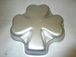 "Wilton Shamrock Cake Pan 2105-185 12"" St. Patricks Day Tin"