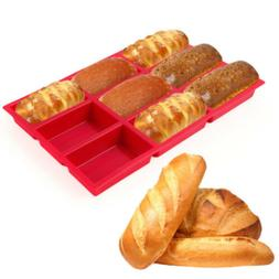 Silicone 6 Loaves Subway Bread Form Loaf Toast Cake Pan Baki