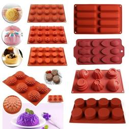 Silicone Cupcake Mousse Muffin Pan Chocolate Cake Cookies Ba