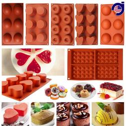 Silicone Cupcake Muffin Candy Pan Pudding Pastry Bakeware Ca