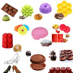 Silicone Large Cake Mold Pan Muffin Chocolate Pizza Pastry B