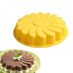 silicone large flower cake baking pan mould