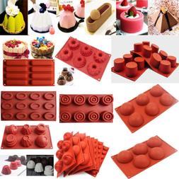 Silicone Mousse Muffin Pudding Pastry Mould Bakeware Cake Pa