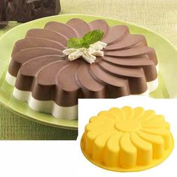 silicone new large flower cake mould chocolate