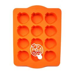 Chicago Metallic Silicone Pumpkin Cakelet Pan and Stencil