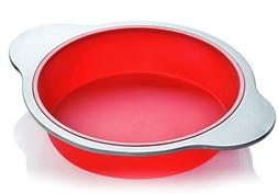 Silicone Round Cake Pan. Large 9-inch Baking Cake Mold by Bo