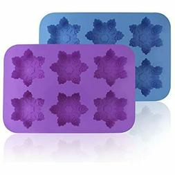 Silicone Snowflake Specialty & Novelty Cake Pans Molds, 2 Pa