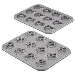 Cake Boss Specialty Bakeware 2-Piece Heart And Flower Molded