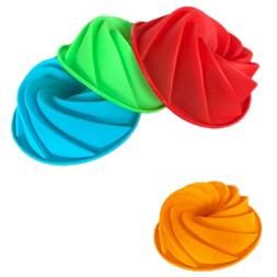 Spiral shape silicone Cake Pan Bread Bakeware Mold baking to