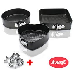 Nonstick Springform Cake Pan 3 pieces Nonstick Metal Cake Ba