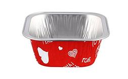 "KEISEN square 4"" 9oz 24/pk Disposable Aluminum Foil Cups 230"