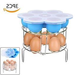 Stackable Stainless Steel Egg Steamer Rack With Silicone Egg