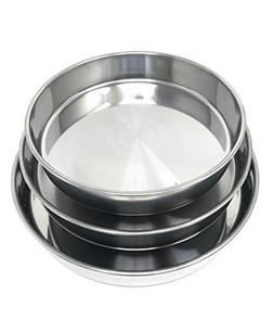 Concord Cookware 3-Piece Stainless Steel Cake Baking Pan, 11