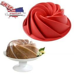 Swirl Bundt Ring Kougolf Jelly Silicone Pastry Cakes Mould M