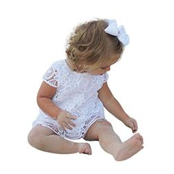 Aniywn Toddler Kids Lace Flowers Princess Dress Outfits Ador