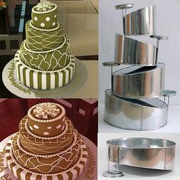 Topsy Turvy Set of 4 Round Cake Pans with Detachable Stand b