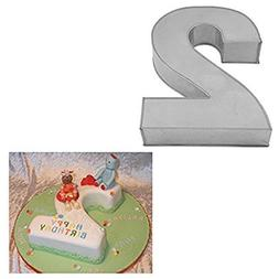 Large Number Two Birthday Wedding Anniversary Cake Tins / Pa