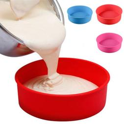 "US 6/8/9"" DIY Silicone Mould Bakeware Round Cake Form Baking"