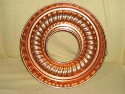 Vintage Mirro Coppertone 11 Cup Ring Jell-O Mold - Bundt Cak