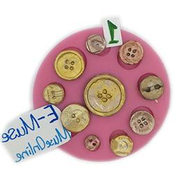 Vintage Retro 10 Cavities Button Silicone Mold Colour Number