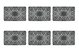 DII Stain Resistant Lace Placemat, Set of 6, Black - Perfect