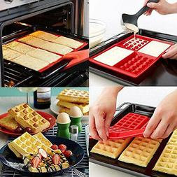 Waffles Cake Chocolate Pan Silicone Mold Microwave Baking DI