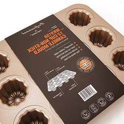 WK9158 Chefmade,12 cup non-stick cannele cake pan,Champagn