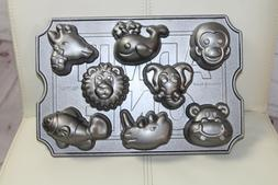 Nordic Ware Zoo Friends Animals Cup Cake Pan/ Mold NWOT
